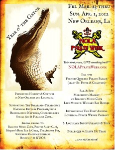 NOLA Pyrate Week 2012 poster
