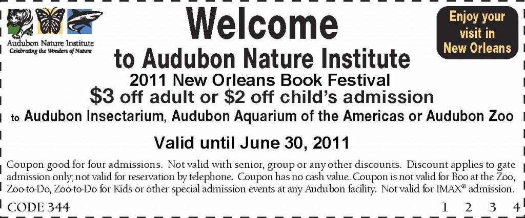 New Orleans Book Fest Audubon Discount