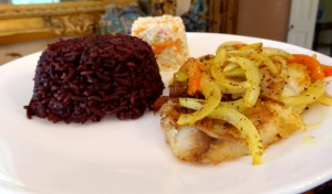 purple-rice-on-plate
